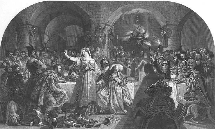 SHAKESPEARE Tragedy Play BANQUET MURDER SCENE MACBETH ~ 1879 Art ...
