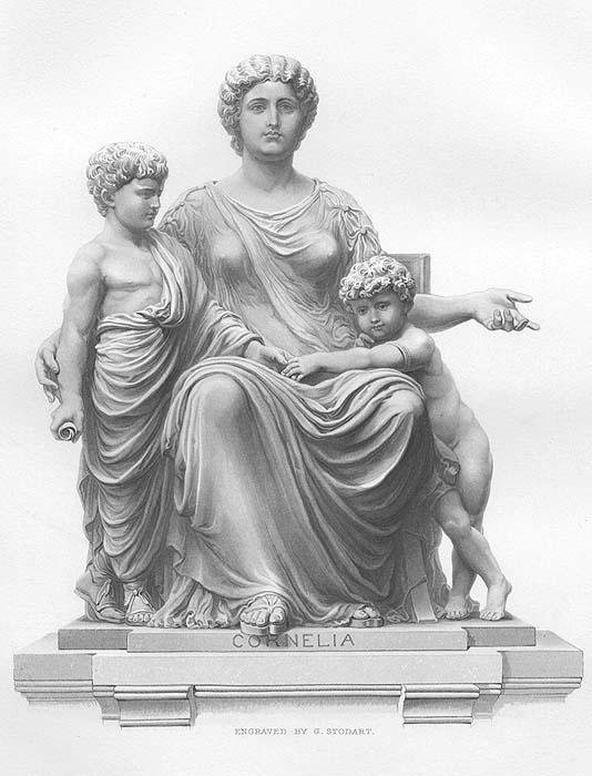 c07669ff4af1aa ROMAN WOMAN MOTHER CORNELIA AFRICANA   TWIN BABY BOYS ~ 1869 Art ...