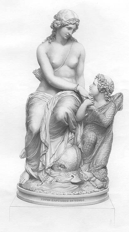 Niña Mujer Diosa Venus Desnuda Nude Cupido Mitología 1861