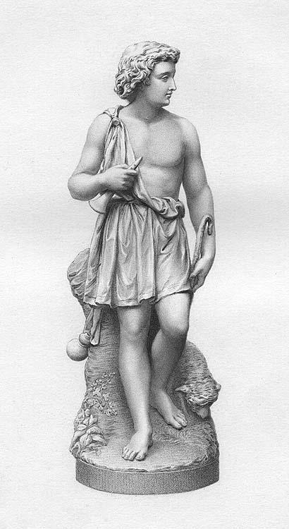 Innocent Young Shepherd Boy David Goliath Old 1873 Bible Art Print Engraving Ebay