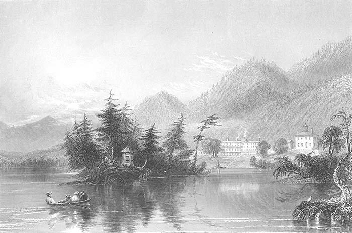 Catskill Mountains New York Picnic Original Poster Goldendoodle Art Print 337